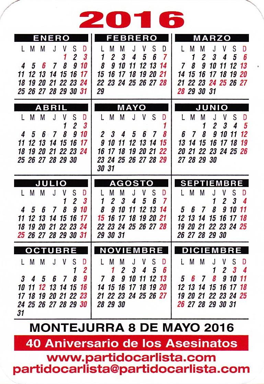 Calendario 20161