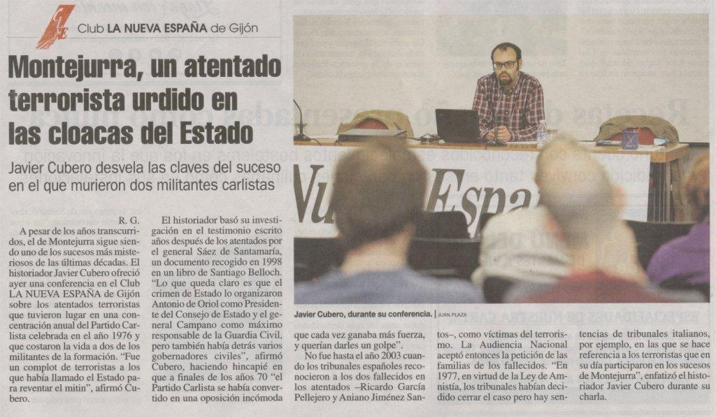 Conferencia de Javier Cubero. Montejurra 76