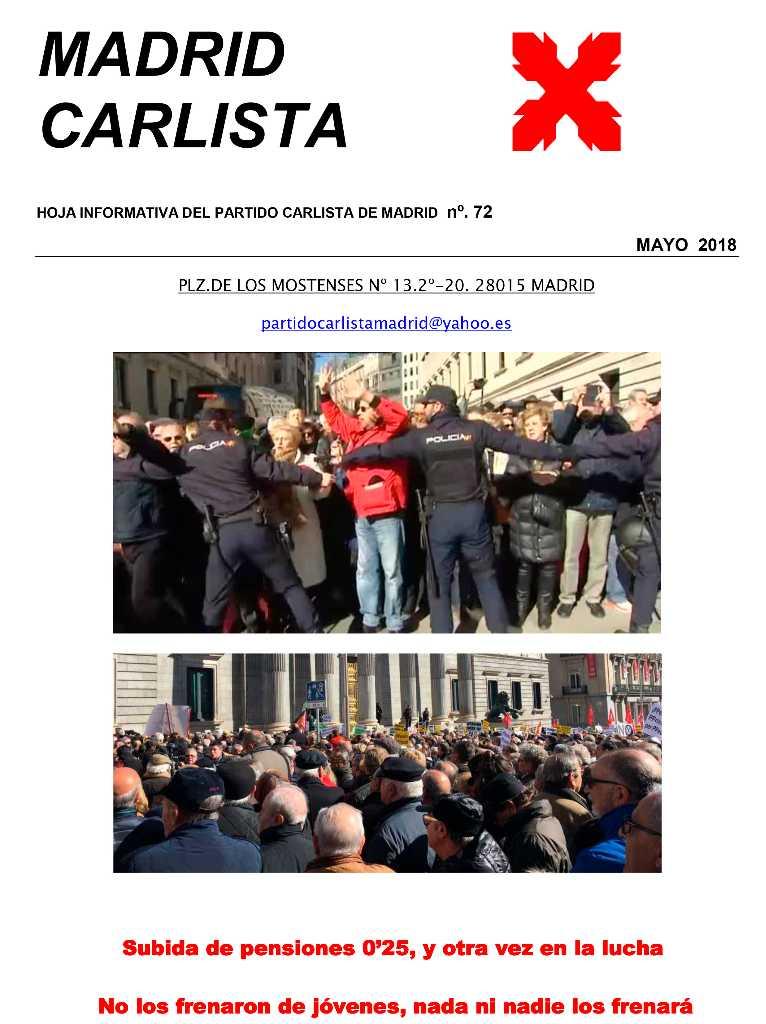 Boletín Carlista de Madrid 72