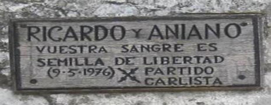 Ricardo, Aniano, vuestra sangre es semilla de Libertad